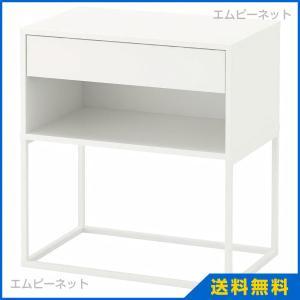IKEA イケア  VIKHAMMER ヴィークハムメル ベッドサイドテーブル ホワイト (103.889.82)|mpee