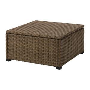 IKEA イケア  SOLLERON ソッレローン スツール 屋外用 ブラウン (203.736.16)|mpee