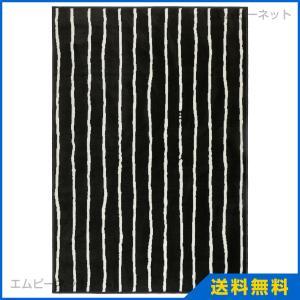 IKEA イケア GORLOSE ラグ パイル短 ブラック/ホワイト (303.208.49)|mpee