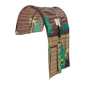 ベッドテント カーテン付き ブラウン 子供部屋 165x97x68cm キューラ KURA