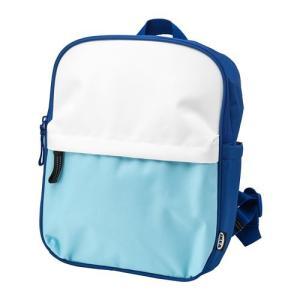 IKEA イケア STARTTID スタルッティド バックパック, ブルー/ホワイト (304.322.29)|mpee