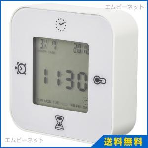 KLOCKIS 時計/温度計/アラーム/タイマー, ホワイト...
