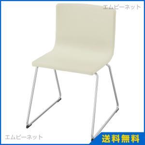 IKEA イケア BERNHARD チェア クロムメッキ カヴァト ホワイト (601.610.66)|mpee