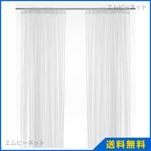 IKEA イケア LILL ネットカーテン1組 ホワイト (701.719.27) mpee