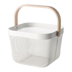 IKEA イケア RISATORP バスケット ホワイト (702.816.19)の写真