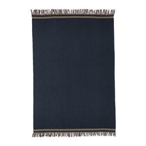 IKEA イケア STOCKHOLM 2017 ラグ 平織り 手織り ブルー ブルー (703.453.48)|mpee