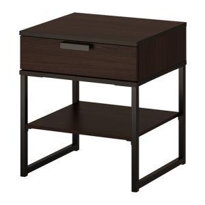 IKEA イケア TRYSIL ベッドサイドテーブル ダークブラウン ブラック|mpee