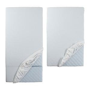 IKEA イケア LEN ボックスシーツ 伸長式ベッド用、2枚セット ホワイト (802.034.90)|mpee
