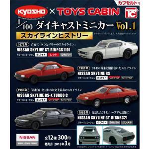 【フルコン販売 全12種】 1/100ダイキャストミニカー Vol.1 スカイラインヒストリー / トイズキャビン|mpitsuki-ys