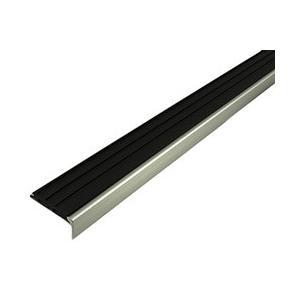オーダーメイド品 D112-2m 階段滑り止め ノンスリップ タイヤ付き ブラック 穴アキ アルミニウム|mproshop