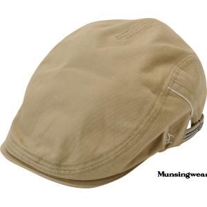 マンシングウエア メンズ 綿100%ハンティング帽 ベージュ 2015春夏物  AM3828C623 mps