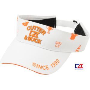 カッター&バック メンズ 綿100%サンバイザー ホワイ×サンセットオレンジ 2015春夏物 CBM0299XN10|mps