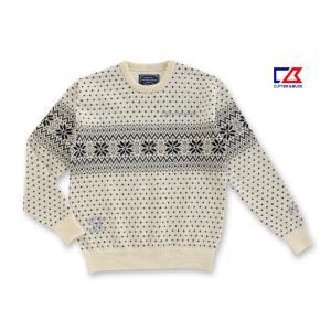 カッター&バック メンズ シェットランドウール100%セーター ホワイト系 2014秋冬物 CBM4142N933 mps