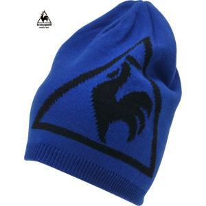 ルコックゴルフ メンズ ニットキャップ ブルー系 2016秋冬物 QG0249M335|mps