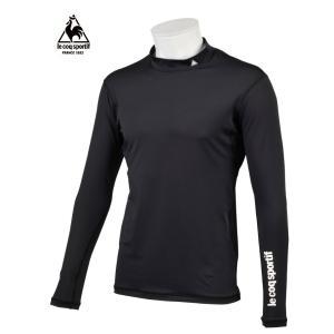 ルコックゴルフ メンズ 長袖インナーフィットシャツ ブラック  QG1352N151|mps