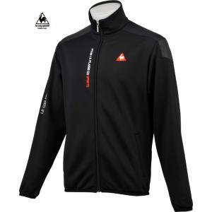 ルコックゴルフ メンズ フルジップ フリースブルゾン ブラック 2016秋冬物  QG4722N151|mps