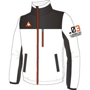 ルコックゴルフ メンズ フルジップ フリースブルゾン ホワイト 2016秋冬物  QG4723N942|mps