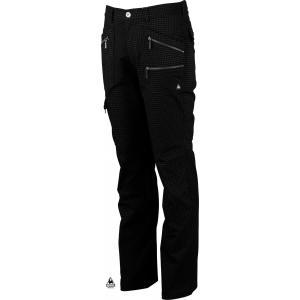 ルコックゴルフ メンズ 綿混ストレートパンツ ブラック系プリント 2016秋冬物 QG8495N151|mps