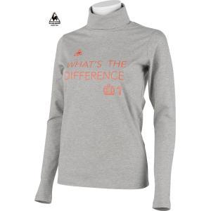 ルコックゴルフ レディース 綿混長袖タートルネック グレー系 2015秋冬物 QGL1461N600|mps