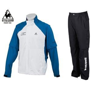 95eef0043ba4e7 ルコックゴルフ メンズ レインウェア 上下スーツ ネイビー/ホワイト×ブラック 2019春夏物 QGMNJH00WWHBL