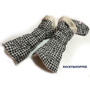 ROCKY&HOPPER ロッキー&ホッパー レディース リバーシブル レッグウォーマー 千鳥格子柄 RH7037WL-0107|mps