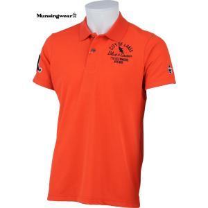 マンシングウェア メンズ 半袖ポロシャツ オレンジ 2015春夏物 RM1569A529 mps