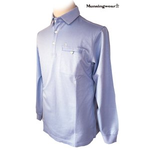 マンシングウェア メンズ 長袖ポロシャツ サックス 2015春夏物 SG1290M763 mps
