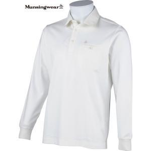 マンシングウェア メンズ 長袖ポロシャツ オフホワイト 2015春夏物 SG1290N921 mps