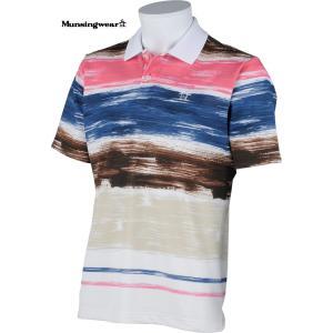 マンシングウェア メンズ サンスクリーン 半袖ポロシャツ ネイビー系 Mサイズ 2015春夏物 SG1761XN20 mps