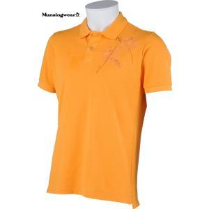 マンシングウェア メンズ 綿100%半袖ポロシャツ オレンジ 2015春夏物 SG1774A729 mps