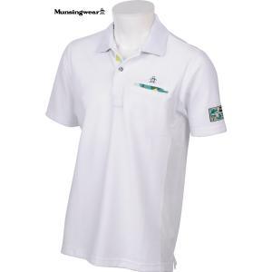 マンシングウェア メンズ エアラブル 綿混半袖ポロシャツ ホワイト 2016春夏物 SG1800N950|mps