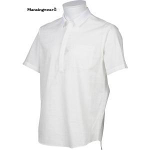 マンシングウェア メンズ 半袖布帛シャツ ホワイト 2016春夏物 SG3524N921|mps