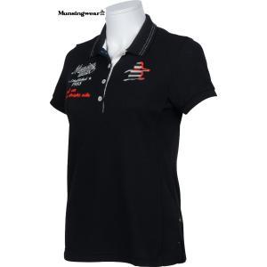 マンシングウエア レディース ULTRA COOL 半袖ポロシャツ ブラック 2016春夏物  SL1705N100|mps