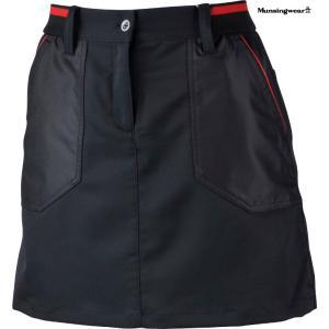 マンシングウェア レディース ヒートナビスカート ブラック 2016秋冬物 SL7083N100|mps
