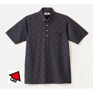UP GOLF メンズ半袖ボタンダウンシャツ 接触涼感 ブラック 2015春夏物 UPG5003BLK|mps