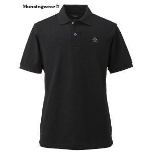 マンシングウェア  メンズ 半袖ポロシャツ ブラック 日本製 XSG1600N100|mps