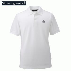 マンシングウェア  メンズ 半袖ポロシャツ ホワイト 日本製 XSG1600N950|mps