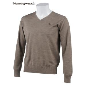 マンシングウェア メンズ ONE THING 【日本製品】 Vネックセーター カーキ系  2016秋冬物 XSG4300C350|mps