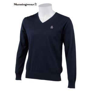 マンシングウェア メンズ ONE THING 【日本製品】 Vネックセーター ネイビー 2016秋冬物 XSG4300M150|mps