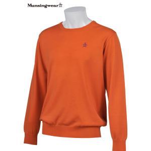 マンシングウェア メンズ ONE THING 【日本製品】 クルーネック セーター オレンジ 2016秋冬物 XSG4301A579|mps