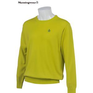 マンシングウェア メンズ ONE THING 【日本製品】 クルーネック セーター ライム 2016秋冬物 XSG4301L829|mps
