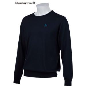 マンシングウェア メンズ ONE THING 【日本製品】 クルーネック セーター ネイビー 2016秋冬物 XSG4301M204|mps
