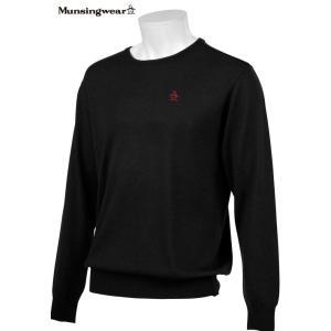 マンシングウェア メンズ ONE THING 【日本製品】 クルーネック セーター チャコール杢 2016秋冬物 XSG4301N200|mps