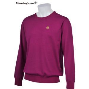 マンシングウェア メンズ ONE THING 【日本製品】 クルーネック セーター パープル LLサイズ 2016秋冬物 XSG4301P286|mps