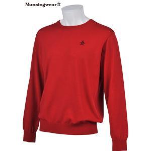 マンシングウェア メンズ ONE THING 【日本製品】 クルーネック セーター レッド 2016秋冬物 XSG4301R379|mps