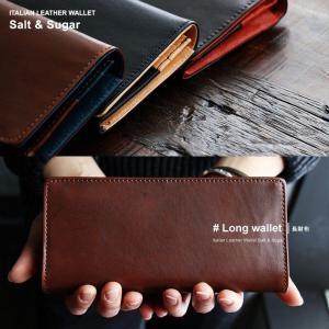 財布 ラウンドジップイタリアンレザー 配色切り替え小銭入れあり 札入れ2 カード入れ18個 (ソルトアンドシュガー) Salt&Sugar   メンズ|mr-lunberjack