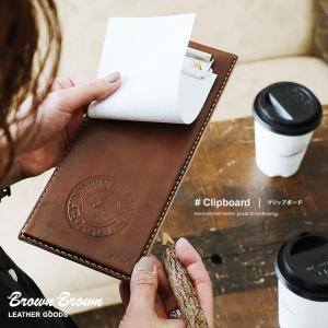 クリップボード  BB COFFEE  カフェ コーヒーショップ レザー 革 牛革   (ブラウンブラウン) BrownBrown 春 夏   メンズ mr-lunberjack