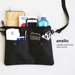 サコッシュ ショルダー バッグ 鞄 カバン 500ml ペットボトル ストラップ 取り外し 可能 ポーチ (アネロ) anello   メンズ|mr-lunberjack