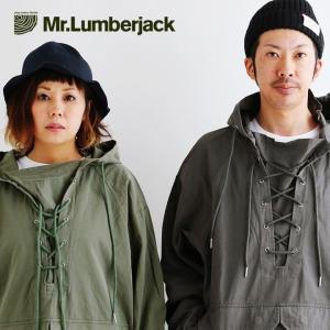 アノラック パーカー レースアップ 高密度 コットンツイル フラップ ポケット Mr.Lumberjack レディース メンズ mr-lunberjack