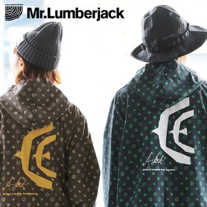 マウンテンパーカー オリジナル 総柄 バック プリント (ミスターランバージャック) Mr.Lumberjack 春 夏 秋 冬  レディース メンズ mr-lunberjack
